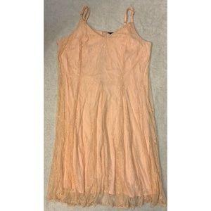 Torrid Women's Pink Lace Long Maxi Dress Size 4X